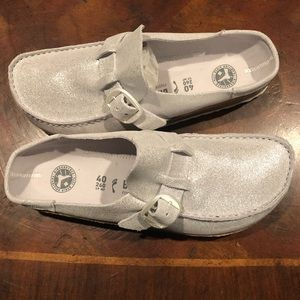 Birkenstock Buckley silver 9 narrow new